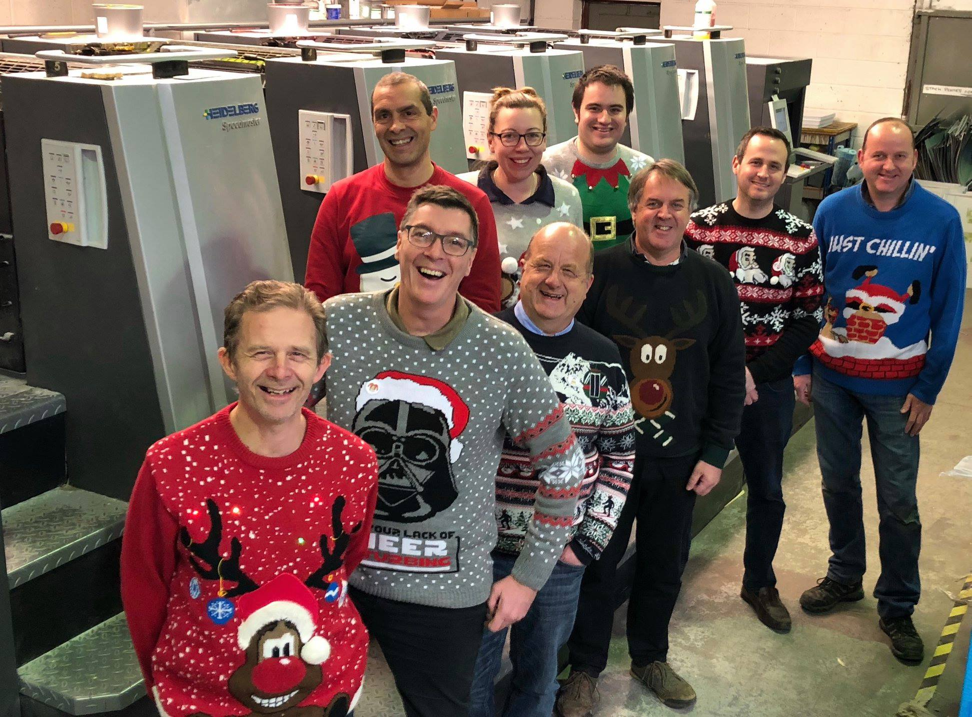 Christmas Jumper Day at Vale Press!
